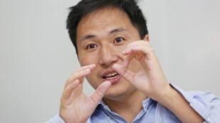 Le chercheur chinois He Jiankui, le 18 juillet 2017.