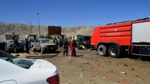Le lieu de l'attentat dans la province de Parwan, le 17 septembre 2019.