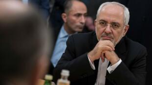El ministro Exteriores de Irán, Mohammad Javad Zharif, en una reunión en Moscú el 10 de enero de 2018.