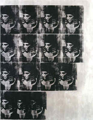 Liz Taylor en Cléopâtre, par Andy Warhol.