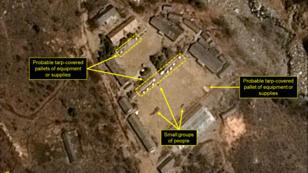 صورة التقطتها الأقمار الصناعية للموقع النووي الكوري الشمالي