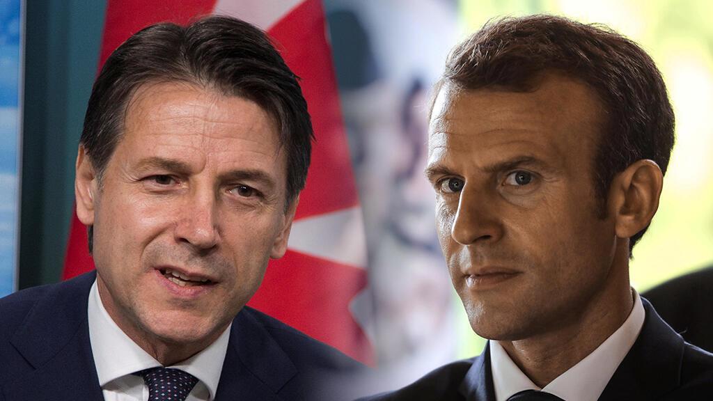 El primer ministro italiano, Giuseppe Conte, sostendrá un encuentro con el presidente de Francia, Emmanuel Macron. Junio 6 de 2018.