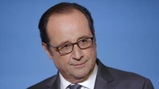 François Hollande s'est exprimé devant de nombreux chefs d'État et ministres à la tribune de la COP22, mardi 15 novembre 2016 à Marrakech.