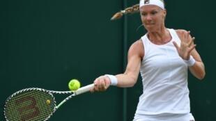 La Néerlandaise Kiki Bertens lors du 3e tour de Wimbledon le 6 juillet 2019
