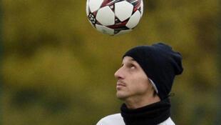 L'attaquant du PSG Zlatan Ibrahimovic.