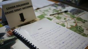 Le cahier des doléances de Bourgtheroulde-Infreville, le 14janvier2019.