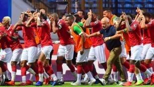 فرحة منتخب مدغشقر بالتأهل لثمن نهائي كاس الأمم الأفريقية. 30 يوينو 2019.