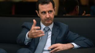 Le président syrien Bachar al-Assad photographié par l'agence officielle Sana.
