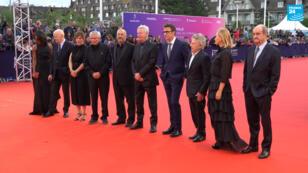 Les anciens présidents du jury de Deauville, notamment Roman Polanski, Pierre Lescure et Michel Hazanavicius, le samedi 7 septembre 2019.