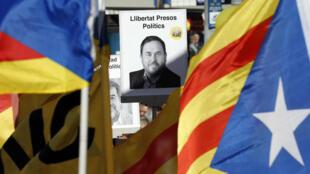 Oriol Junqueras, exvicepresidente catalán, se encuentra en prisión provisional desde el 2 de noviembre por rebelión.