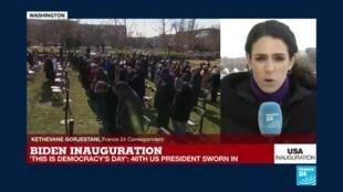 2021-01-20 18:25 Joe Biden and Kamala Harris sworn in as US President and VP in 'odd ceremony'