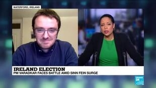 "2020-02-08 22:04 Barry Colfer on France 24: ""The real story of this election is the breakthrough of Sinn Fein"""