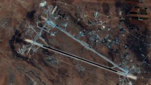 صورة جوية لقاعدة الشعيرات العسكرية في سوريا