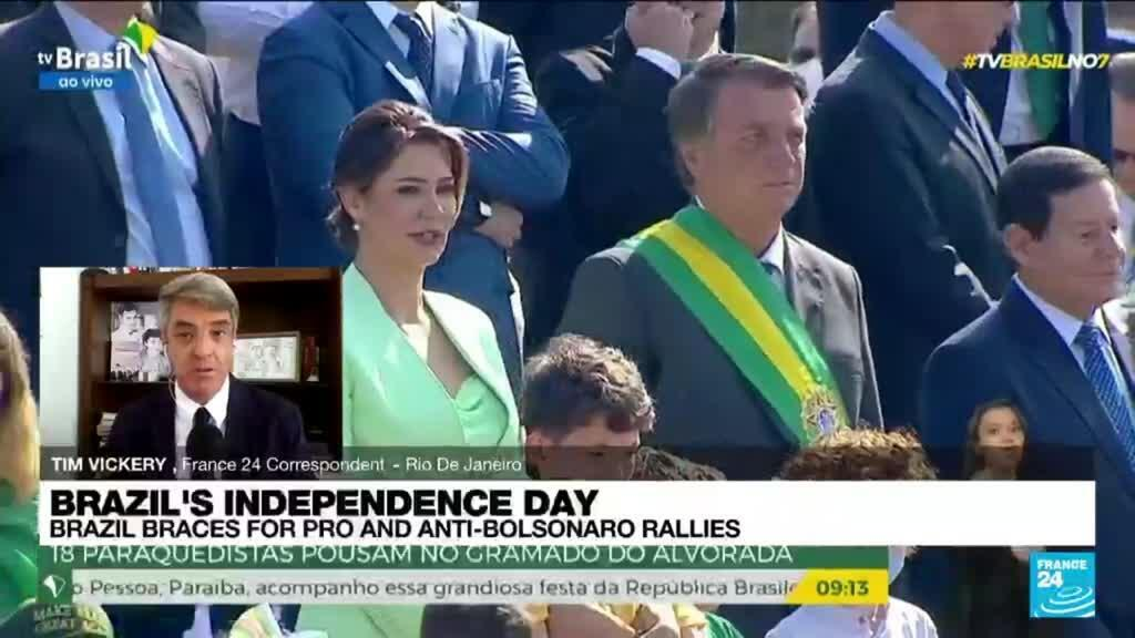 2021-09-07 16:01 Rallies for and against Bolsonaro on Brazil's national day
