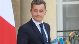 Le ministre de l'Intérieur Gérald Darmanin, le 15 juillet 2020 à l'Elysée à Paris