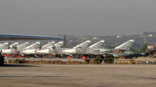 File photo of Russian fighter jets on the tarmac at the Russian Hmeimim military base in Latakia province, in the northwest of Syria, on February 16, 2016.
