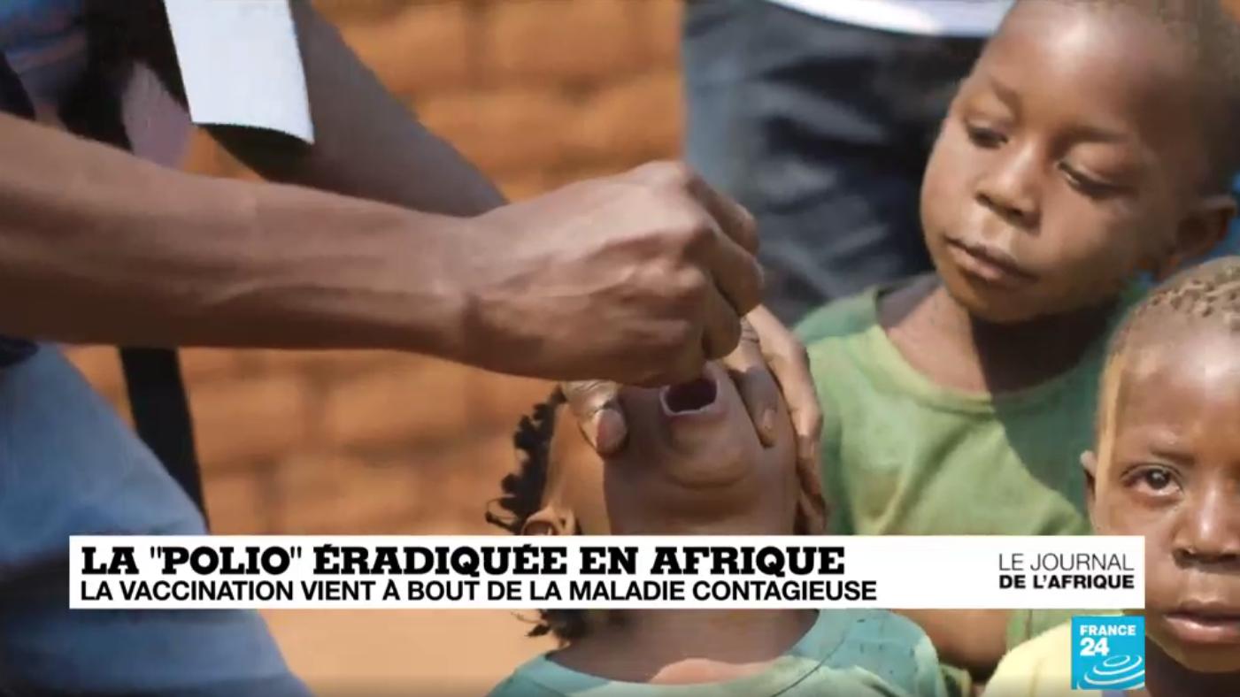"""La """"polio"""" éradiquée en Afrique"""