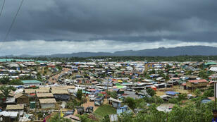 """Vue générale du camp de Kutupalong, désigné """"camp de réfugiés le plus vaste au monde"""" par l'UNHCR, à Ukhia, le 24 juillet 2019."""