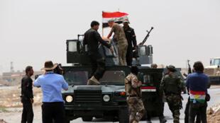 Forces irakiennes antiterroristes, au sud de Mossoul, le 19 août 2014.