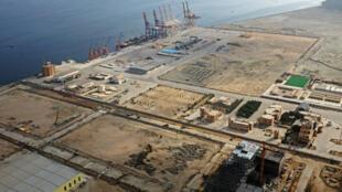 Vue générale du port de Gwadar, au Pakistan, le 4 octobre 2017