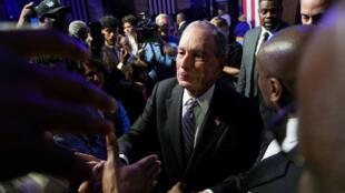 El precandidato demócrata Michael Bloomberg durante un evento en el museo nacional Buffalo Soldiers de Houston, Texas, el 13 de febrero de 2020.