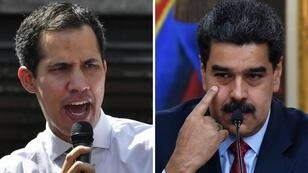 الرئيس الفنزويلي نيكولاس مادورو (يمين) والمعارض خوان غوايدو (يسار)