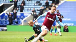 West Ham's Jarrod Bowen scored against Leicester