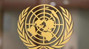 الرمز المميز للأمم المتحدة في مقر المنظمة الدولية في نيويورك في 24 سبتمبر/أيلول 2019.