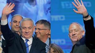 Le Premier ministre israélien, Benjamin Netanyahu, et son rival Benny Gantz, leader du parti Kahol Lavan, n'ont pas réussi à obtenir une majorité claire lors des législatives israéliennes.