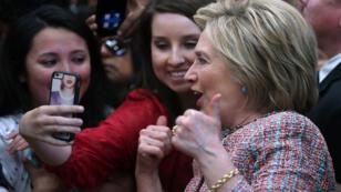 Hillary Clinton lors d'un meeting à Salinas, en Californie, le 25 mai 2016.