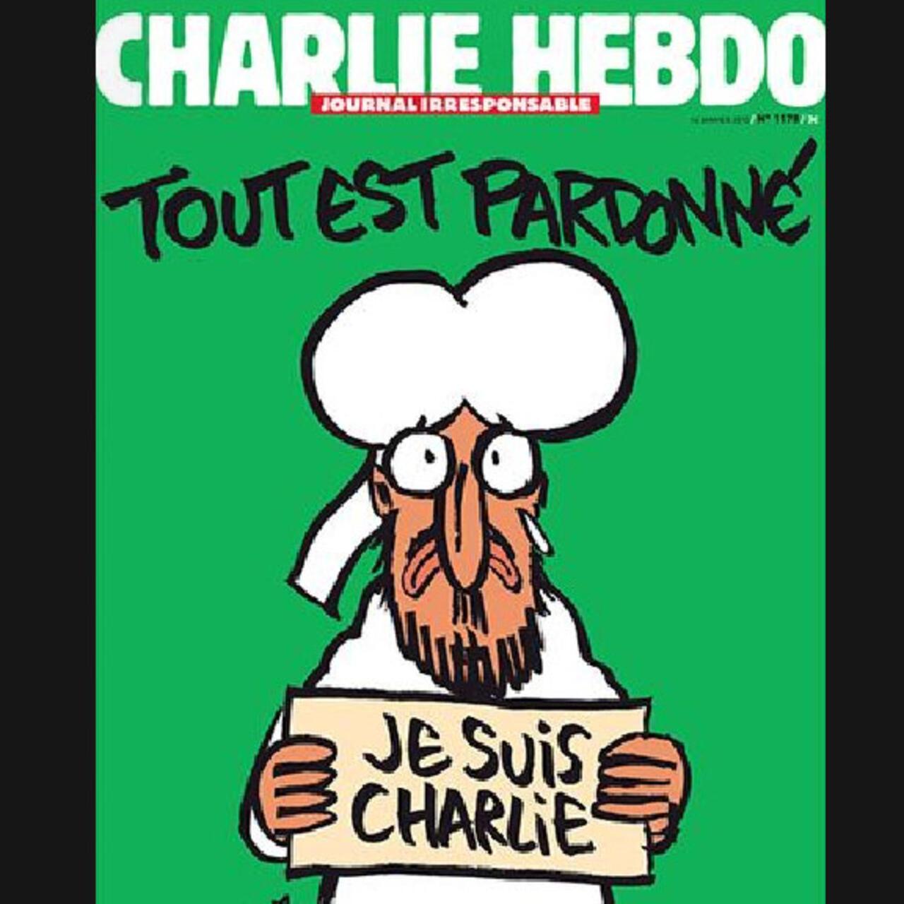 Post-attack charlie hebdo cover uses prophet cartoon