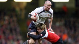 Gareth Thomas, le 17novembre2006, durant le match Pays deGalles-Canada.
