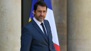 Le ministre de l'Intérieur Christophe Castaner quittant l'Élysée, le 24 juin 2019.