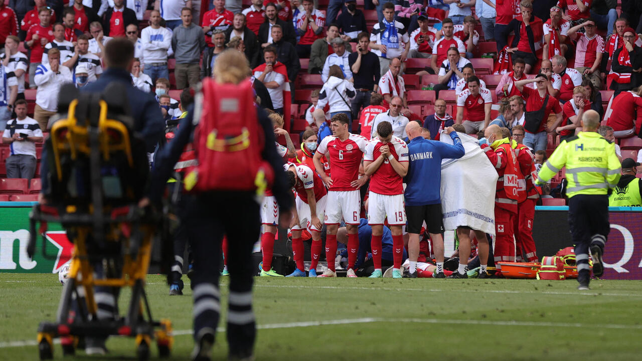 Denmark's Christian Eriksen in stable condition after collapse during match