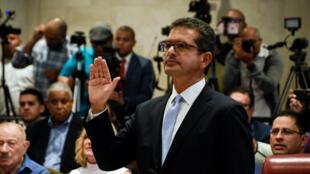 El excongresista Pedro Pierluisi durante una audiencia pública de la Comisión de Gobierno de la Cámara de Representantes de Puerto Riro. San Juan, Puerto Rico, el 2 de agosto de 2019.