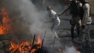 Manifestaciones en Puerto Príncipe, la capital de Haití, para pedir la renuncia del presidente Moise. 23 de noviembre de 2018.
