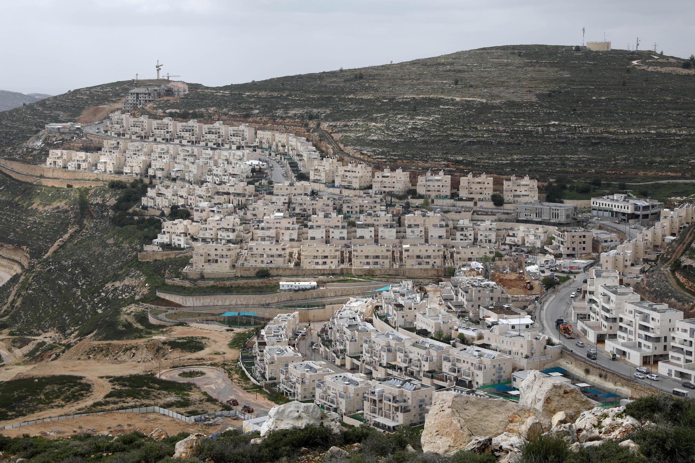 La colonie israélienne de Ramat Givat Zeev en Cisjordanie, le 19 mars 2020.