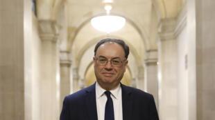 Le nouveau gouverneur de la Banque d'Angleterre (BoE), Andrew Bailey, le 16 mars 2020 à Londres