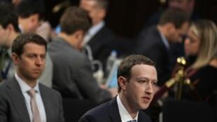 Mark Zuckerberg, le patron-fondateur de Facebook le 10 avril 2018 à Washington