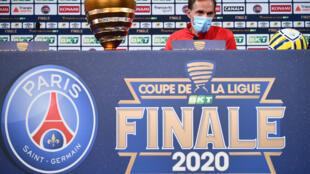 L'entraîneur allemand du Paris-SG, Thomas Tuchel, en conférence de presse au Stade de France, le 30 juillet 2020