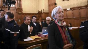 Christine Lagarde, lundi 12 décembre 2016, à la Cour de justice de la République, à Paris.