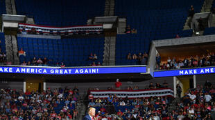 President Donald Trump's June 20, 2020 reelection campaign rally in Tulsa, Oklahoma, drew less-than-expected crowds.
