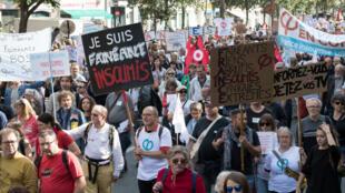 Protestas de La France Insoumise, el partido de extrema izquierda, 23 de septiembre de 2017