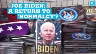 Joe Biden-themed items for sale in Washington, DC on January 20, 2021.