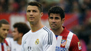 Cristiano Ronaldo du Real Madrid et Diego Costa de l'Atletico