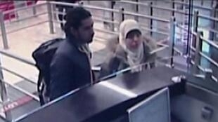 Security camera video footage shown on Jan. 12 by the Habertürk TV station shows Boumeddiene arriving at Istanbul's Sabiha Gökçen airport on Jan. 2, five days before the first terror attack in Paris.