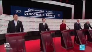 A thinning field of candidates at the final Democratic presidential debate of 2020.