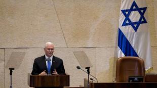 El vicepresidente de Estados Unidos, Mike Pence, en el Parlamento de Israel, en Jerusalén, el 22 de enero de 2018.