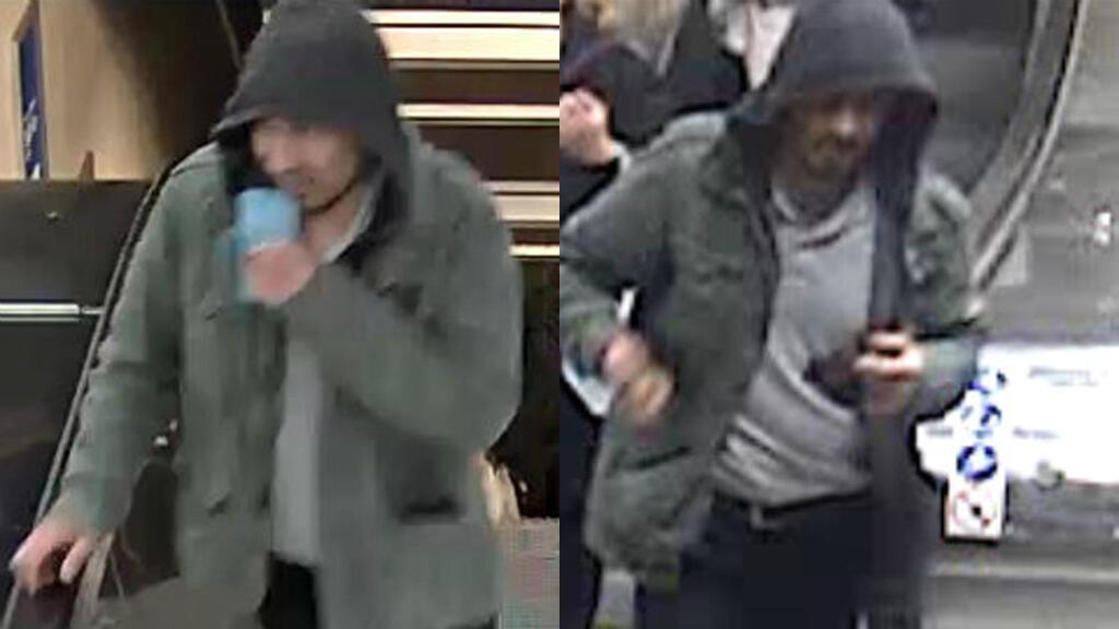 Images de télésurveillance accompagnant l'avis de recherche émis après l'attentat du 7 avril à Stockholm.