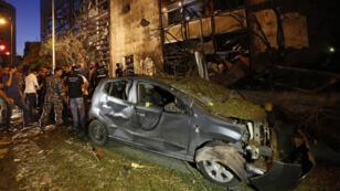 Une explosion a retenti à Beyrouth, près de la Banque du Liban et d'Outre-mer (Blom Bank), dimanche 12 juin 2016.